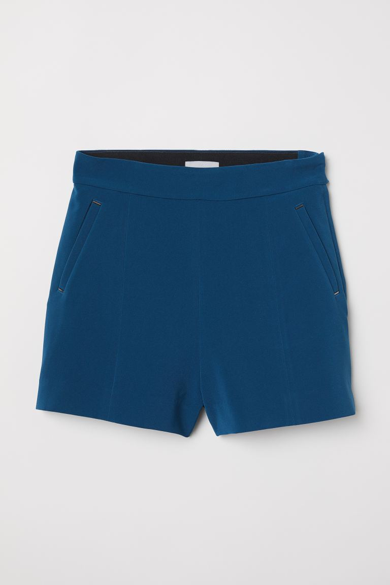 Fitted Shorts - Dark blue - Ladies | H&M US