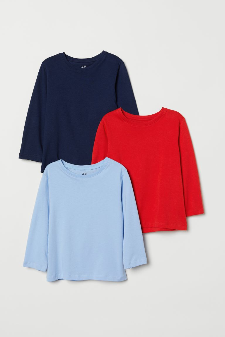 3-pack Jersey Shirts - Bright red - Kids | H&M CA