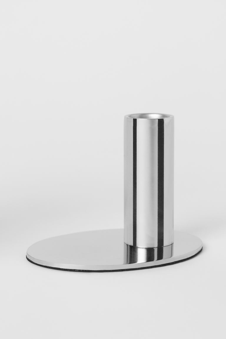Metal Candlestick - Silver-colored - Home All | H&M US