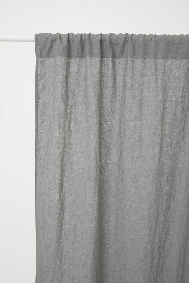 Tenda in lino, 2 pz - Grigio - HOME | H&M IT