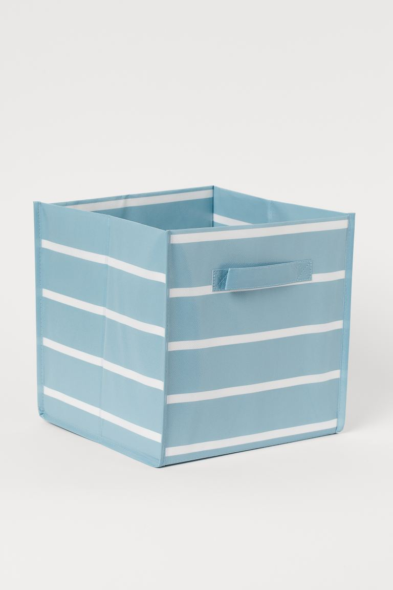 Storage box - Turquoise/White striped - Home All | H&M GB