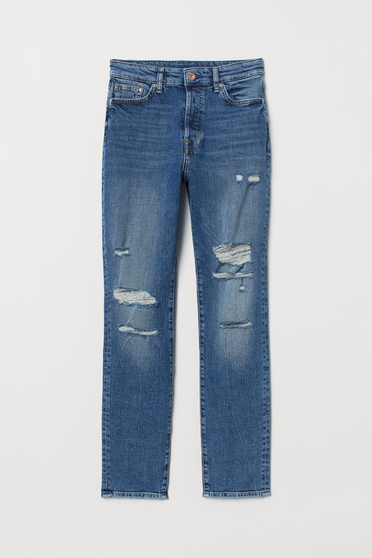 Mom High Ankle Jeans - Denim blue - Ladies | H&M US