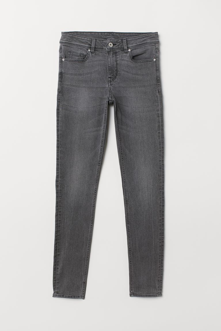 Super Skinny Regular Jeans - Denim gray - Ladies | H&M US