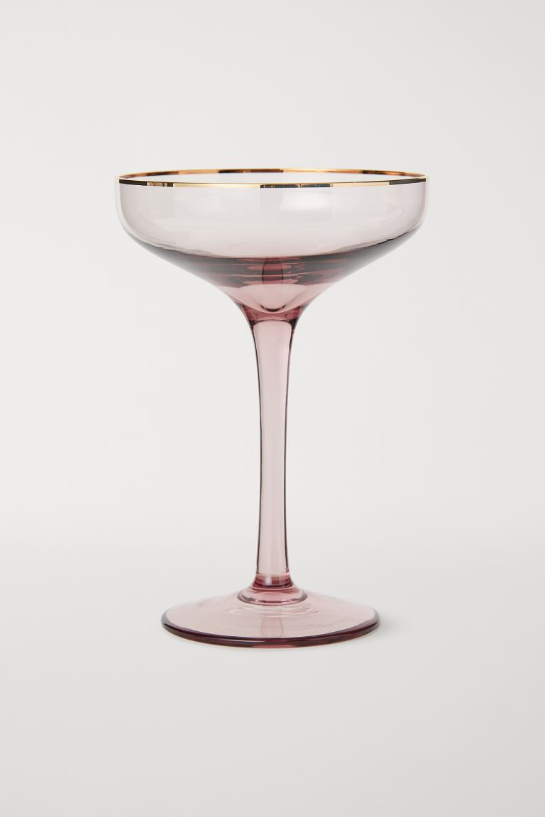 Coupe à champagne - Rose ancien - Home All | H&M FR