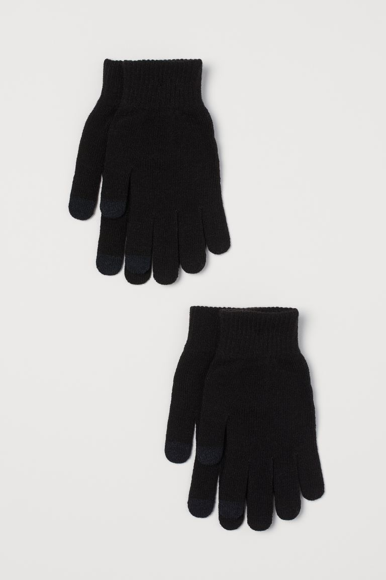 2er-Pack Touchscreen-Handschuh - Schwarz - Ladies | H&M DE
