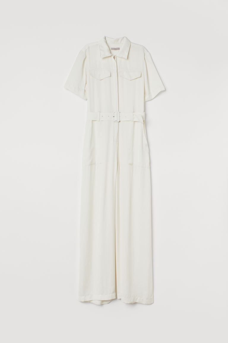 Utility jumpsuit - Cream - Ladies | H&M GB