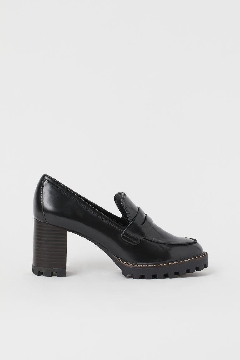 loafers dam med klack