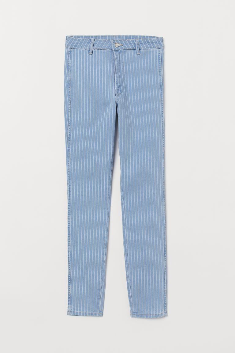 Skinny High Ankle Jeans - Blue/striped - Ladies | H&M US