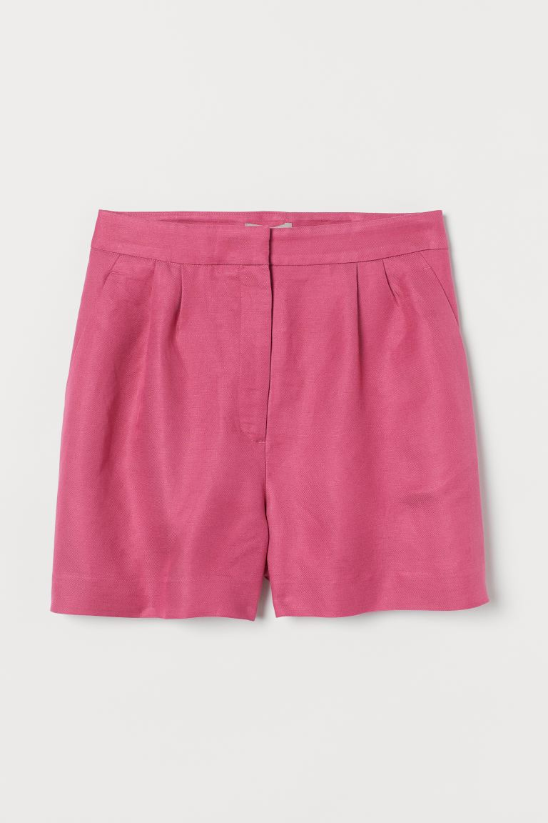 Shorts aus Leinenmix - Rosa - Ladies | H&M AT