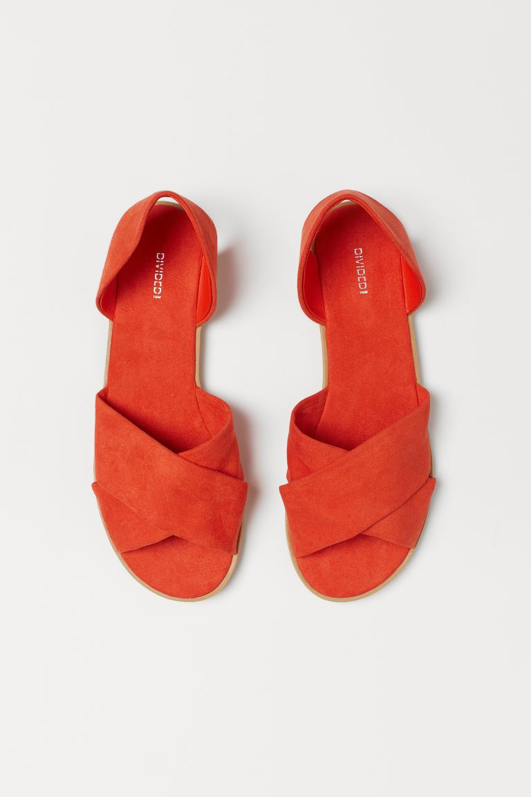 Sandals - Orange - Ladies | H&M IN