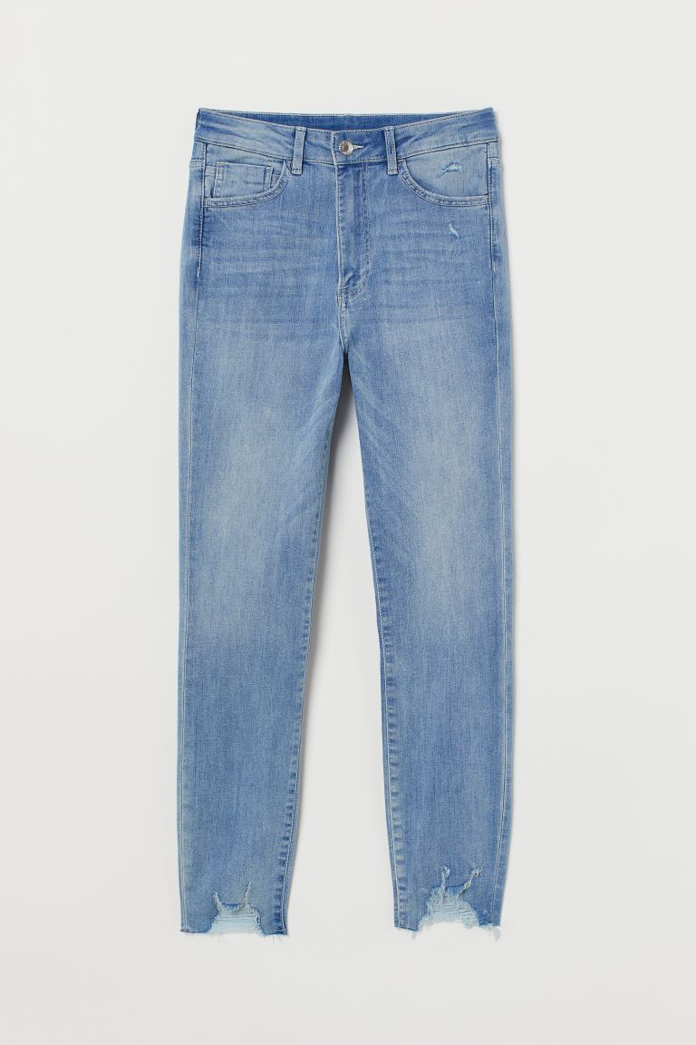Super Skinny High Ankle Jeans - Azul denim claro - MUJER | H&M ES