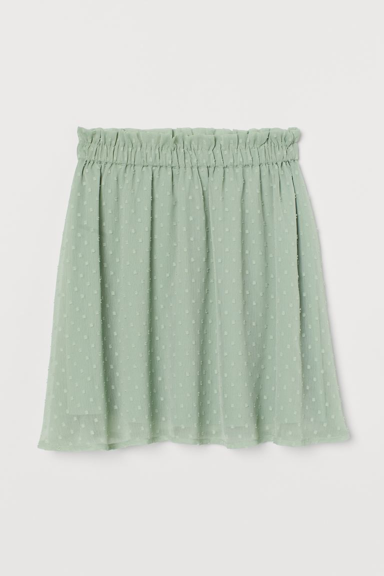 Chiffon skirt - Dusky green - Ladies | H&M IN