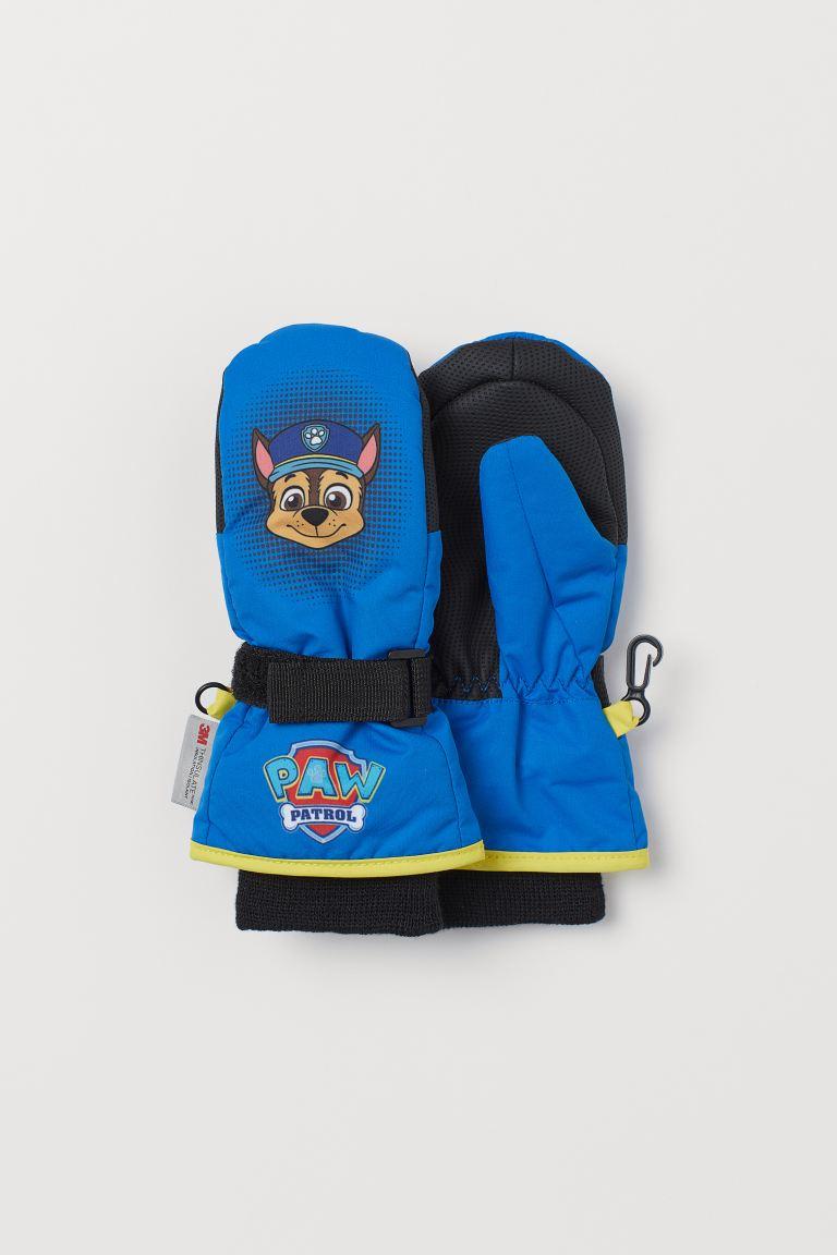 Water-repellent ski mittens