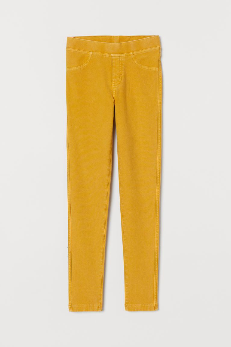Treggings - Mustard yellow - Kids | H&M US