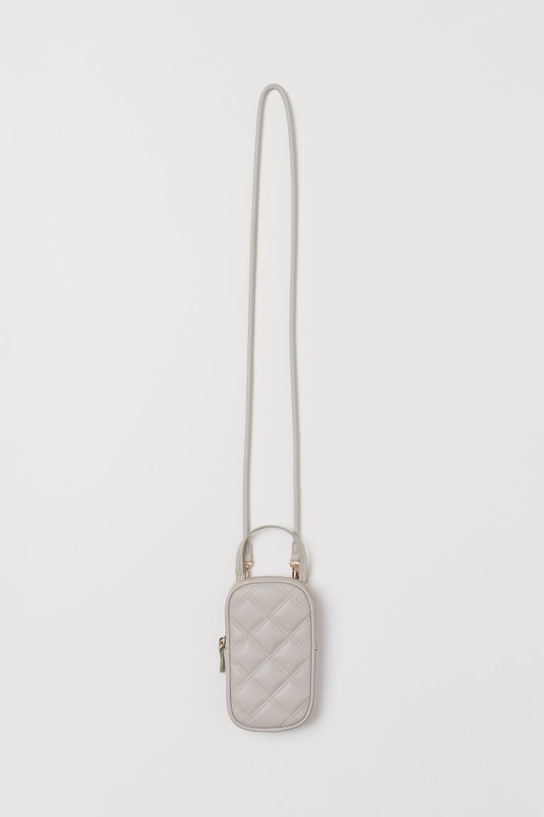 Quilted smartphone bag - Light greige - Ladies | H&M GB