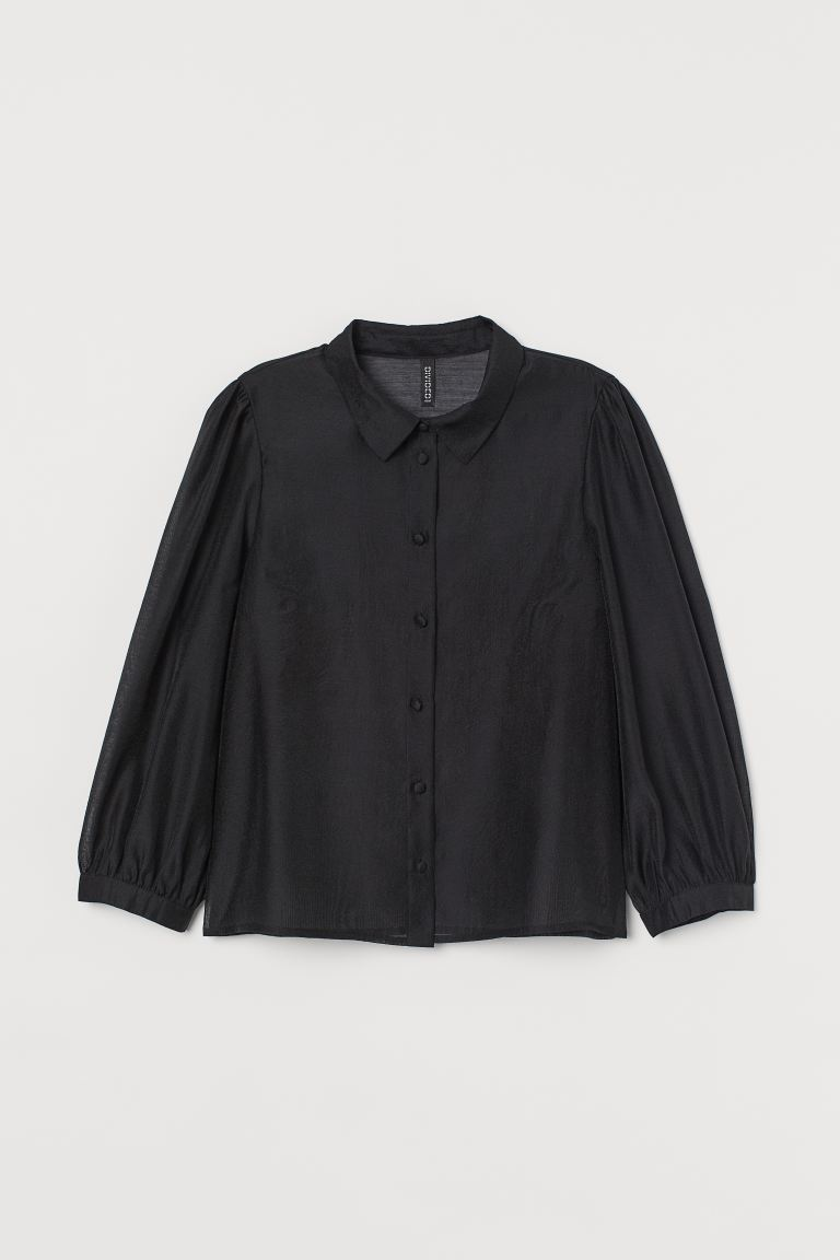 Organza Blouse - Black - Ladies | H&M AU