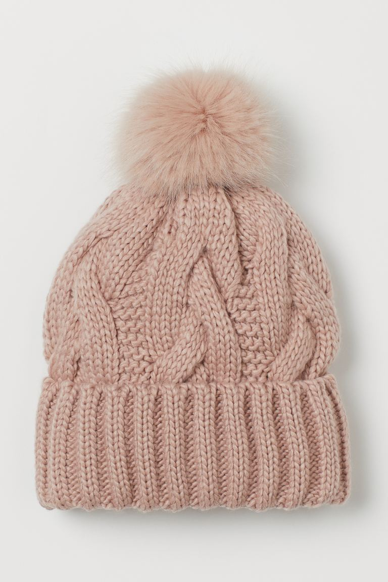 Knit Hat - Powder pink - Ladies | H&M US