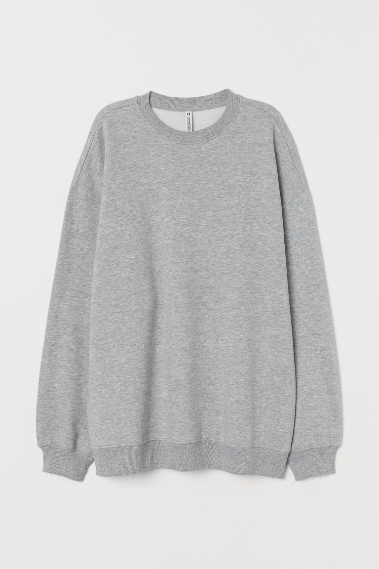 Oversized Sweatshirt - Light gray melange - Ladies | H&M CA