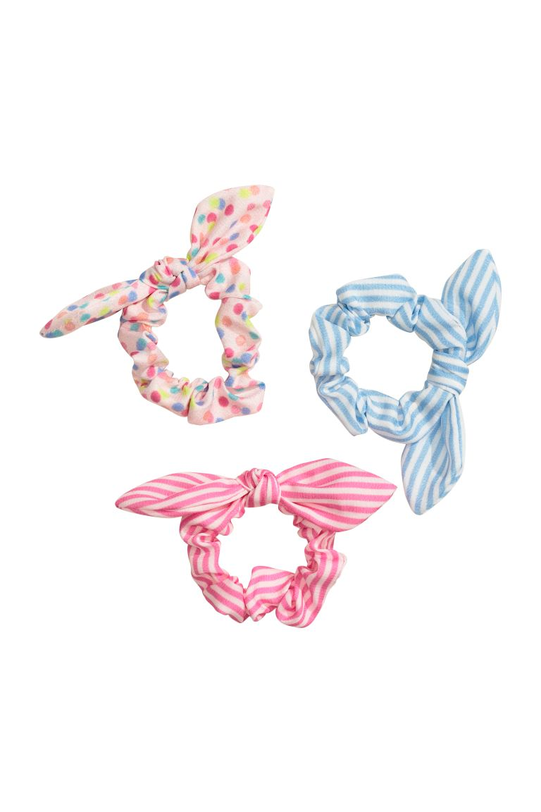 3-pack Scrunchies - Light pink/multicolored - Kids | H&M US