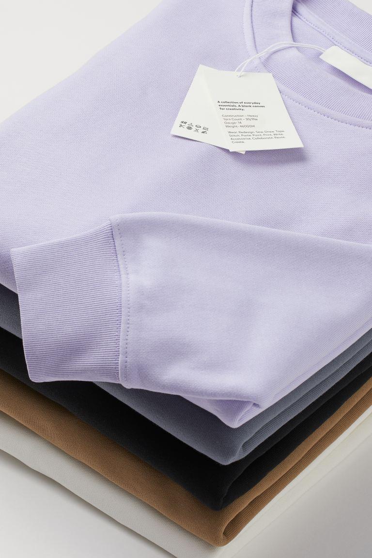 Sweat en coton - Lilas - HOMME | H&M FR 4