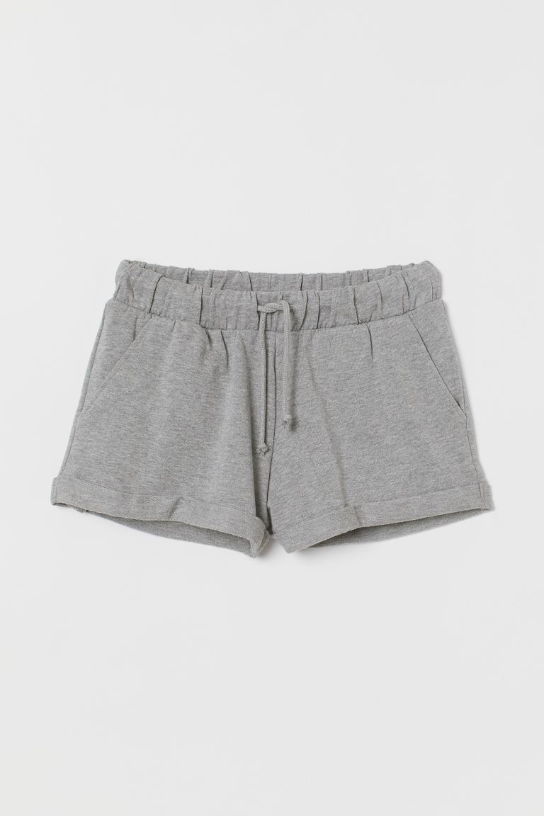 Sweatshirt shorts - Grey marl - Ladies | H&M