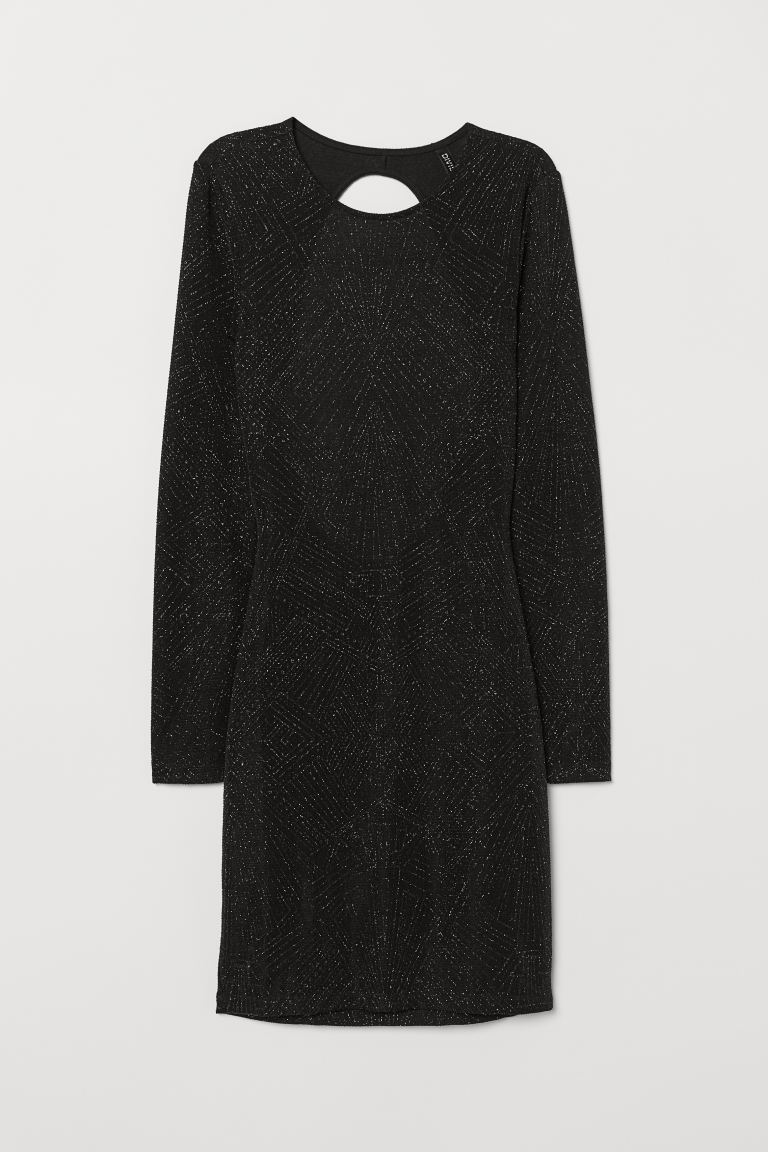 Glittery Dress - Black - Ladies | H&M US