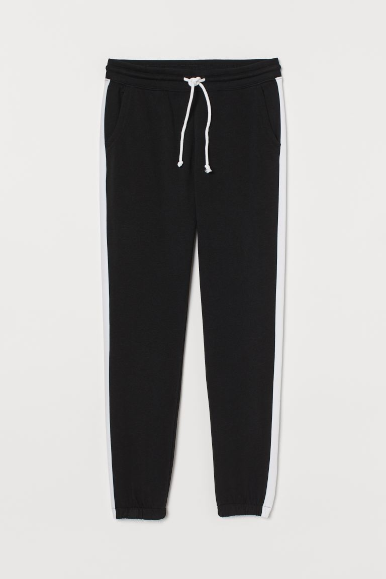 Sweatpants - Black/White - Ladies | H&M