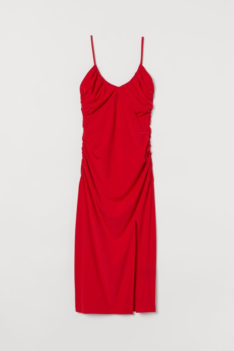 Drapiertes Kleid - Rot - Ladies | H&M AT