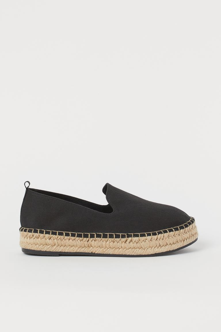 Espadrillas con plateau - Nero - DONNA | H&M IT