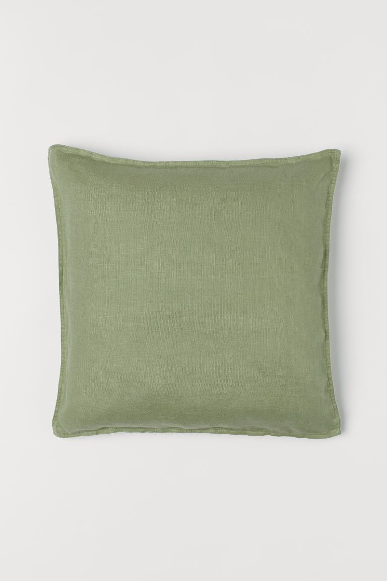 Solid-color Cushion Cover - Khaki green - Home All | H&M US