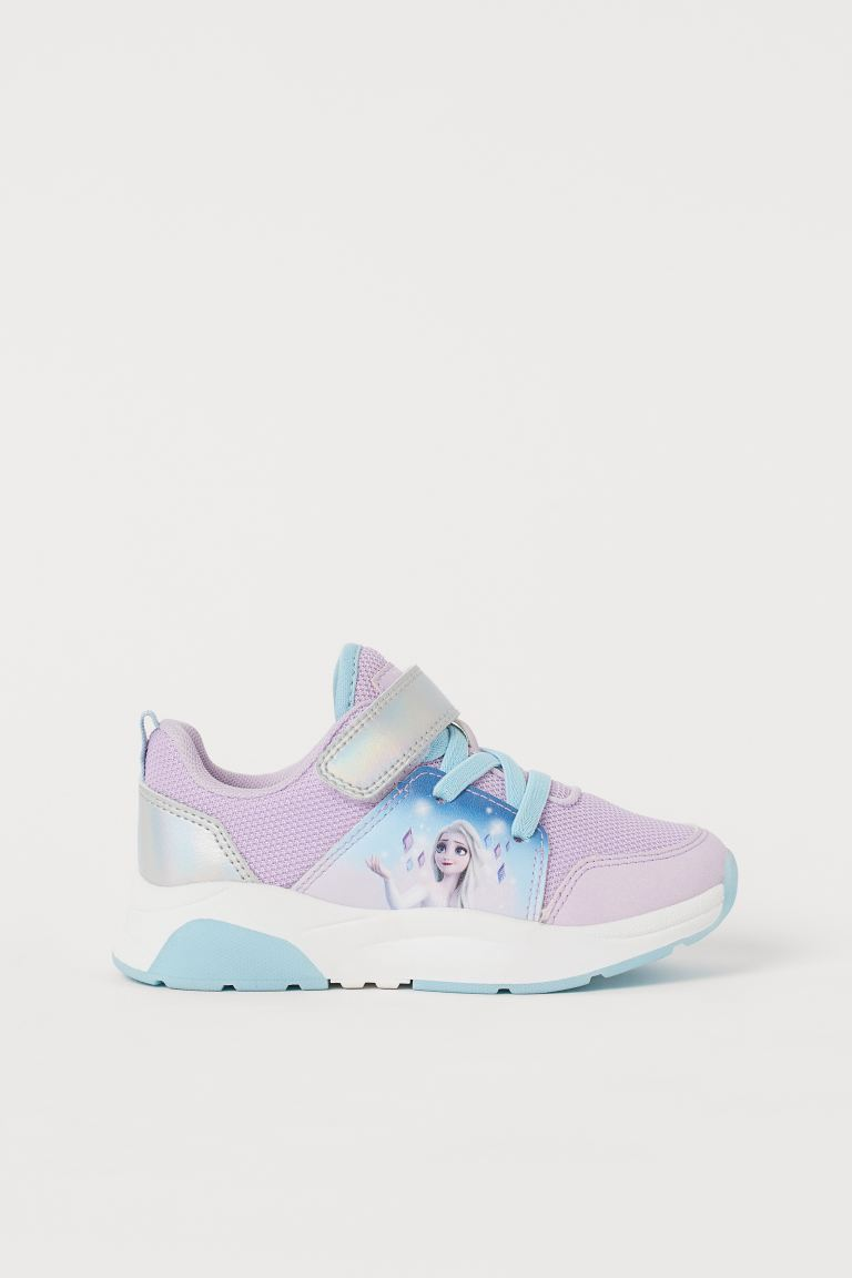 Printed Sneakers - Purple/Frozen - Kids | H&M US