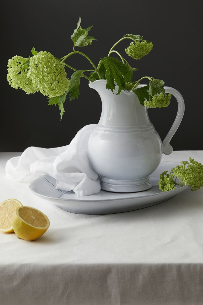 Stoneware Pitcher - White - Home All | H&M US