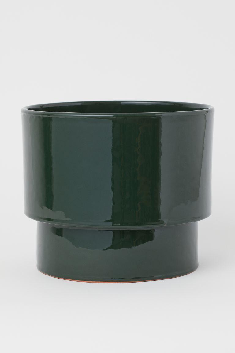 Stor Ytterkruka I Keramik Morkgron Home All H M Se