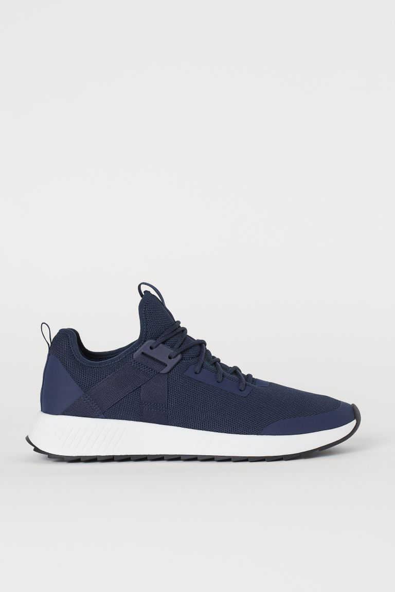 Mesh trainers - Dark blue - Men | H&M IN