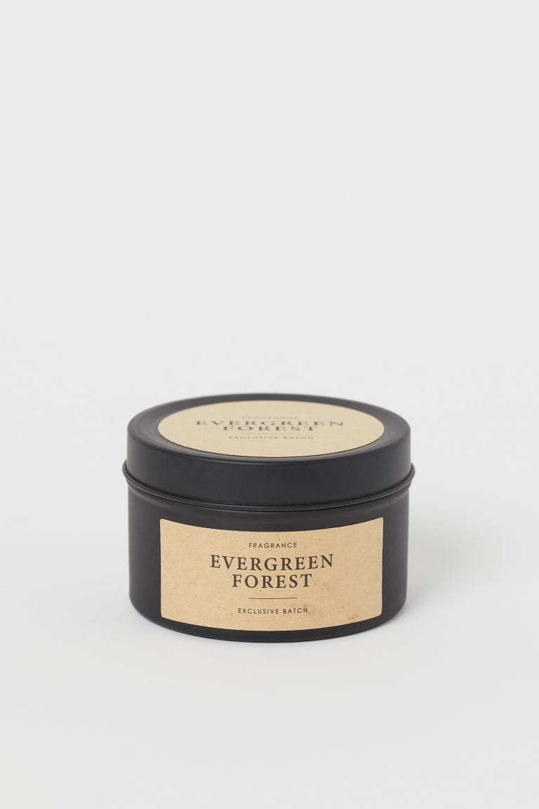 Petite bougie parfumée en pot - Noir/Evergreen Forest - Home All | H&M FR