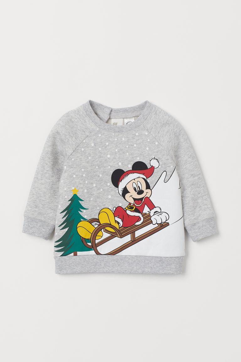 Flock-print sweatshirt