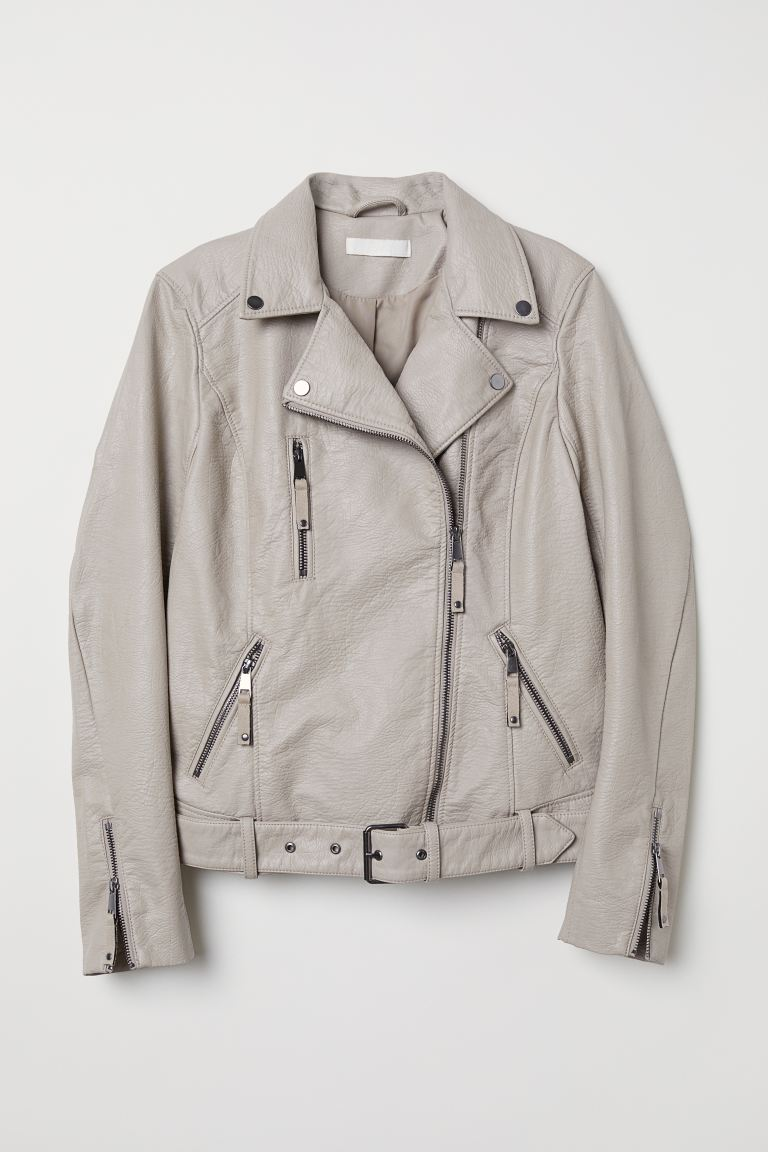 Biker jacket - Light mole - Ladies | H&M GB