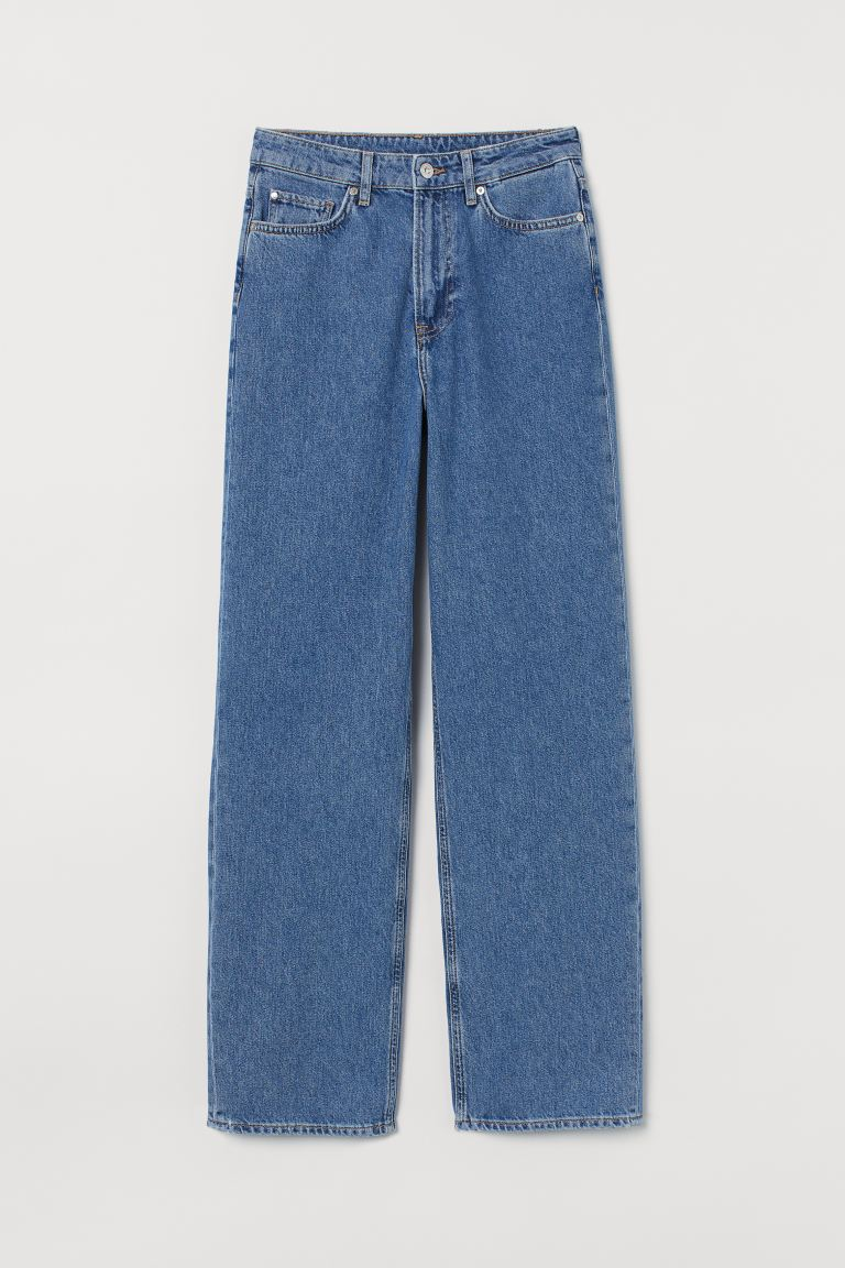Loose Straight High Jeans - Azul denim - MUJER | H&M ES