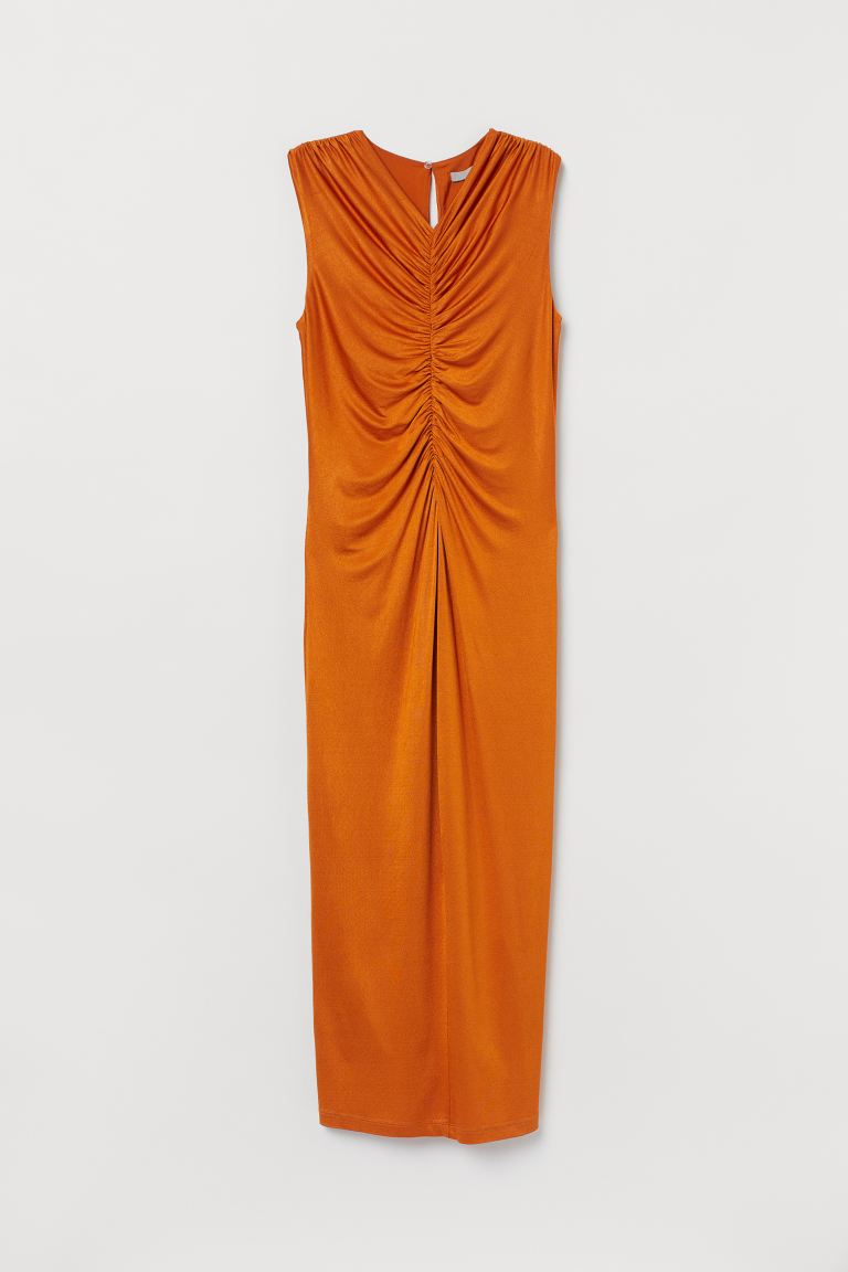 Draped dress - Orange - Ladies | H&M GB