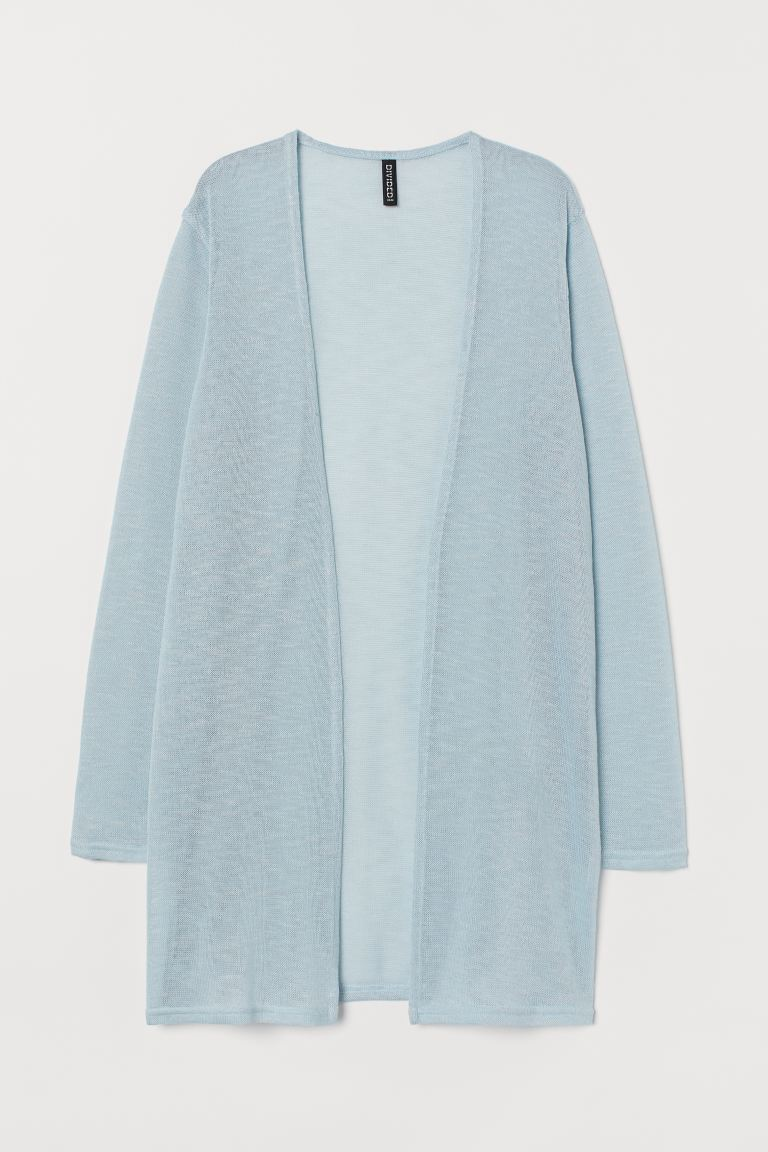 Cardigan a punto largo - Turchese - DONNA | H&M IT
