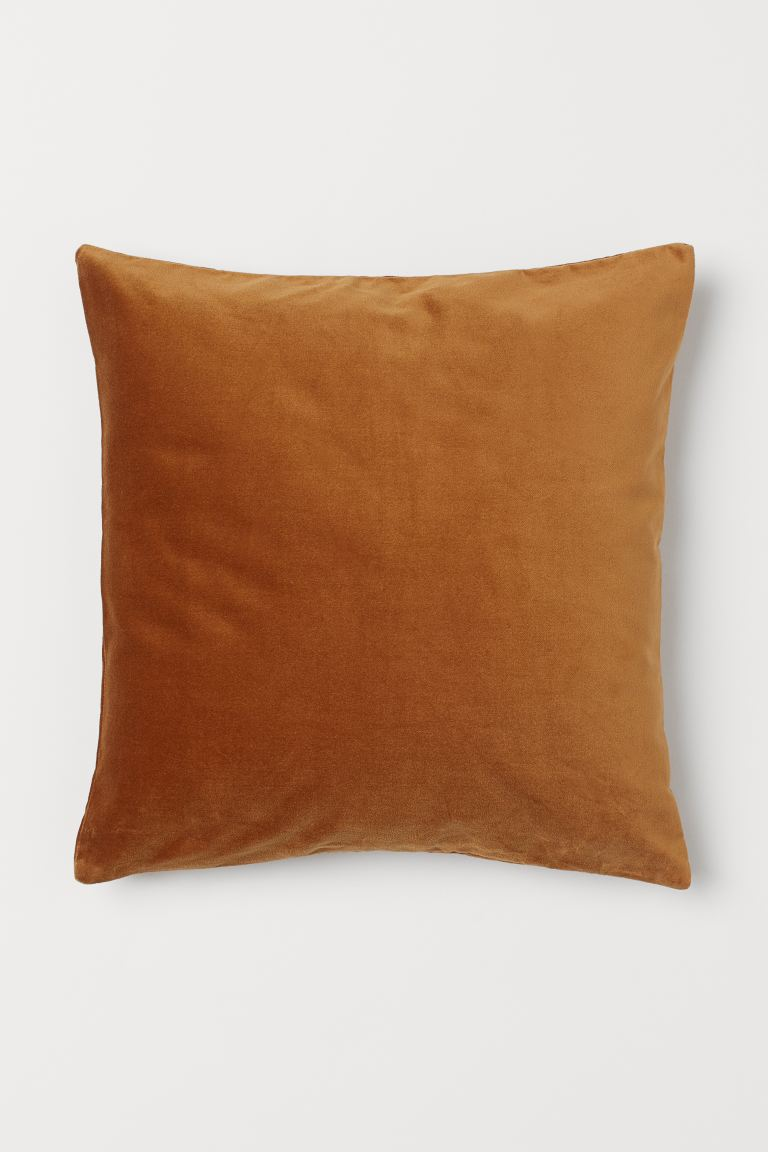 Velvet cushion cover - Light brown - Home All | H&M GB