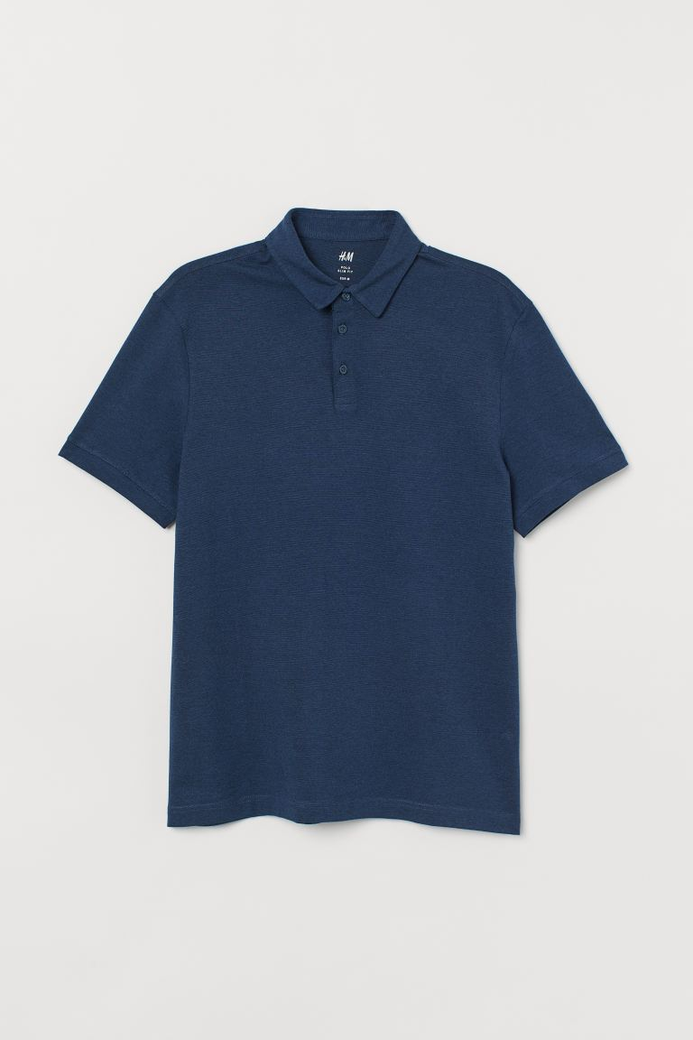 Slim Fit Polo Shirt - Dark blue - Men | H&M CA