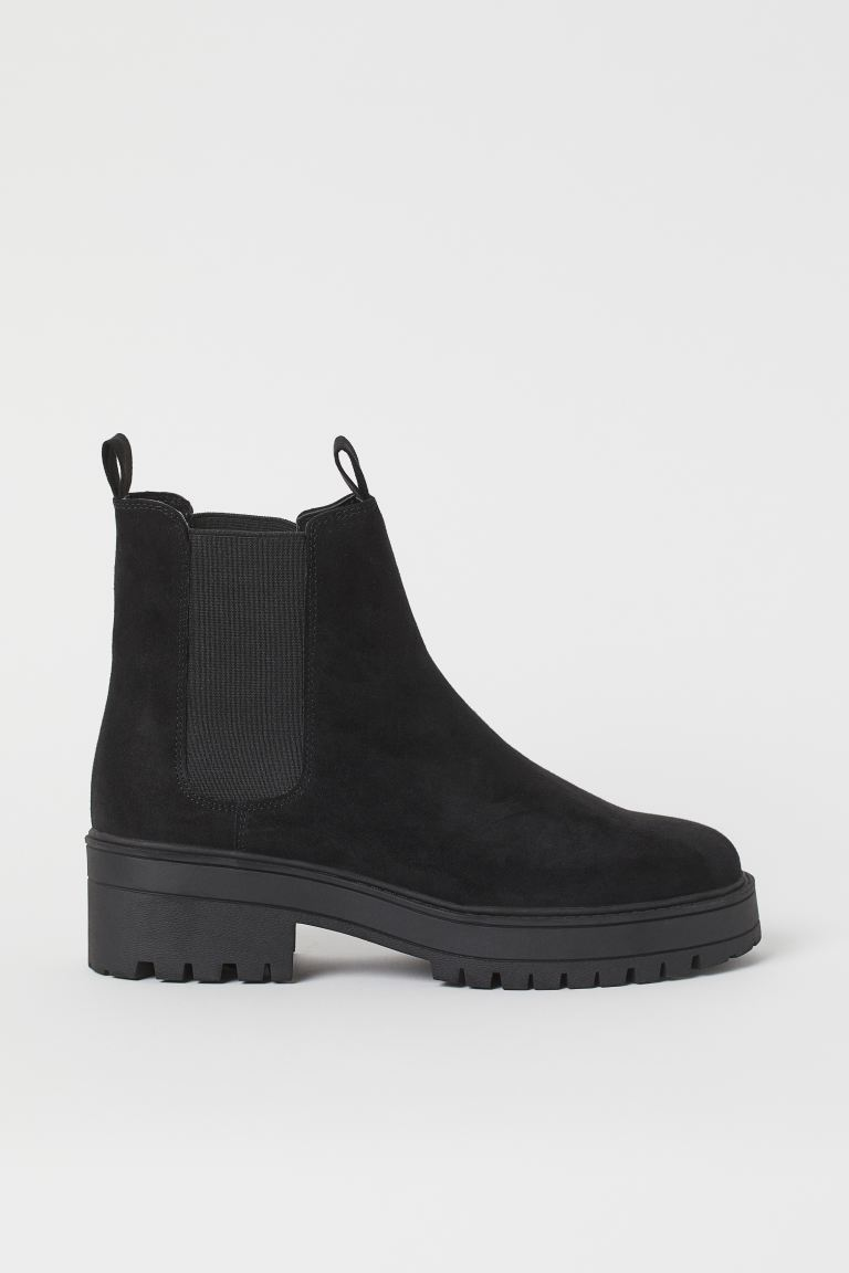Chelsea boots - Black/Imitation suede - Ladies | H&M IN