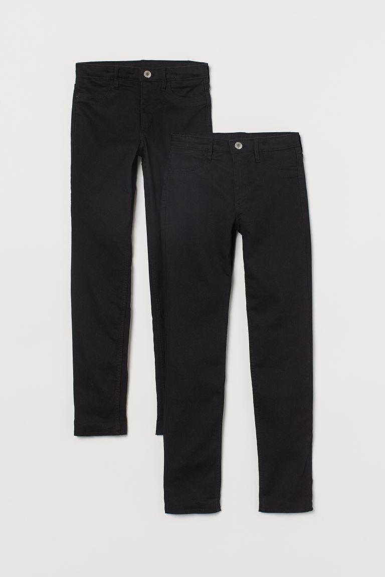 2-Pack Skinny Fit Lined Jeans - Schwarz - Kids   H&M DE 2