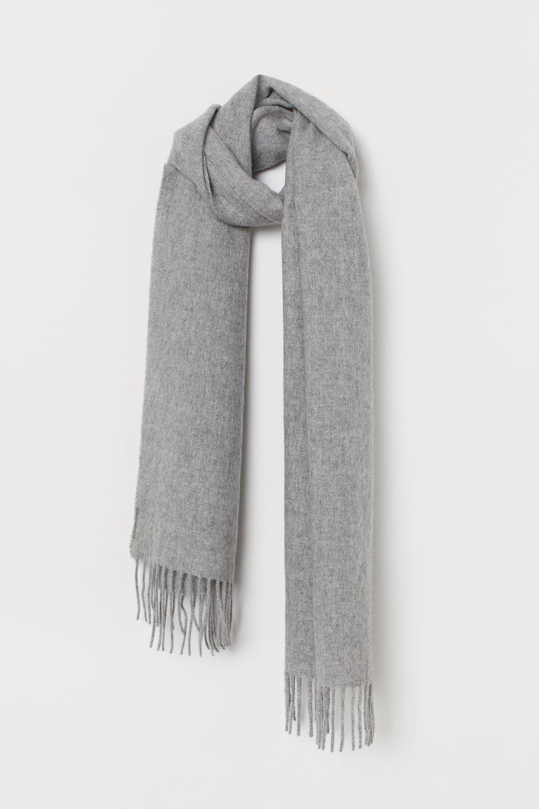 Cashmere scarf - Light grey marl - Men | H&M IE