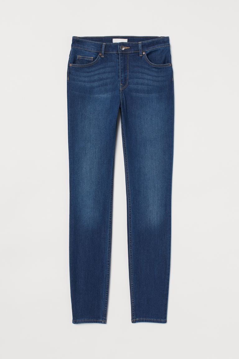 Skinny Regular Jeans - Dark blue - Ladies | H&M GB