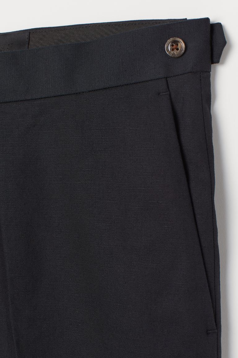 Slim Fit Twill Shorts Black Men H M Us