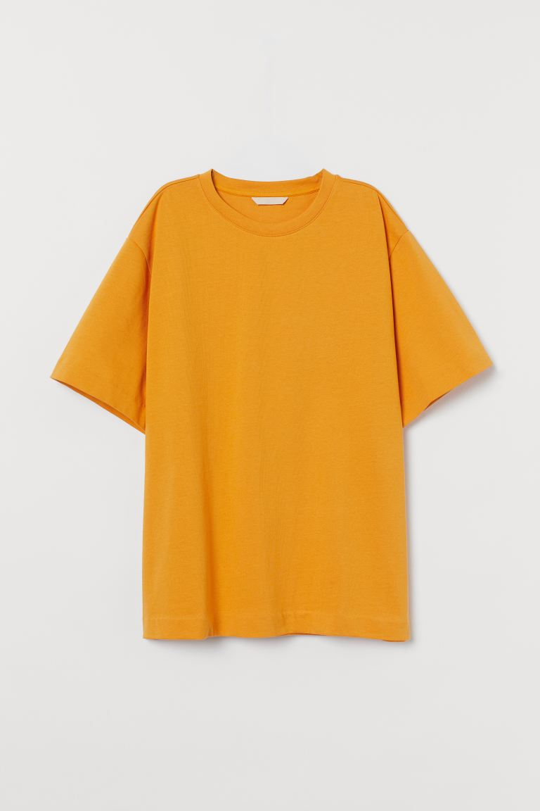 Oversize-T-Shirt - Dunkelgelb - Ladies | H&M AT