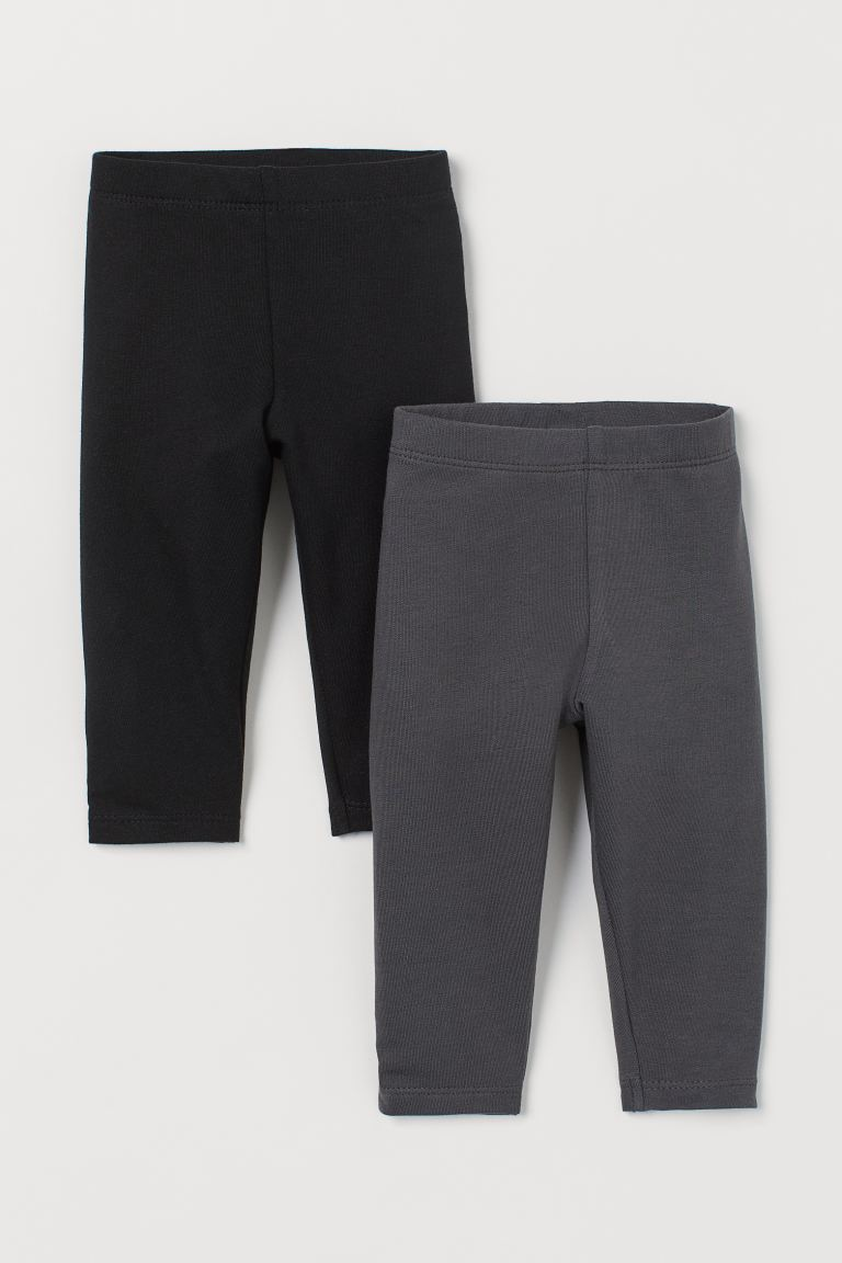 2-pack sweatshirtleggings - Svart/Mörkgrå - BARN | H&M SE