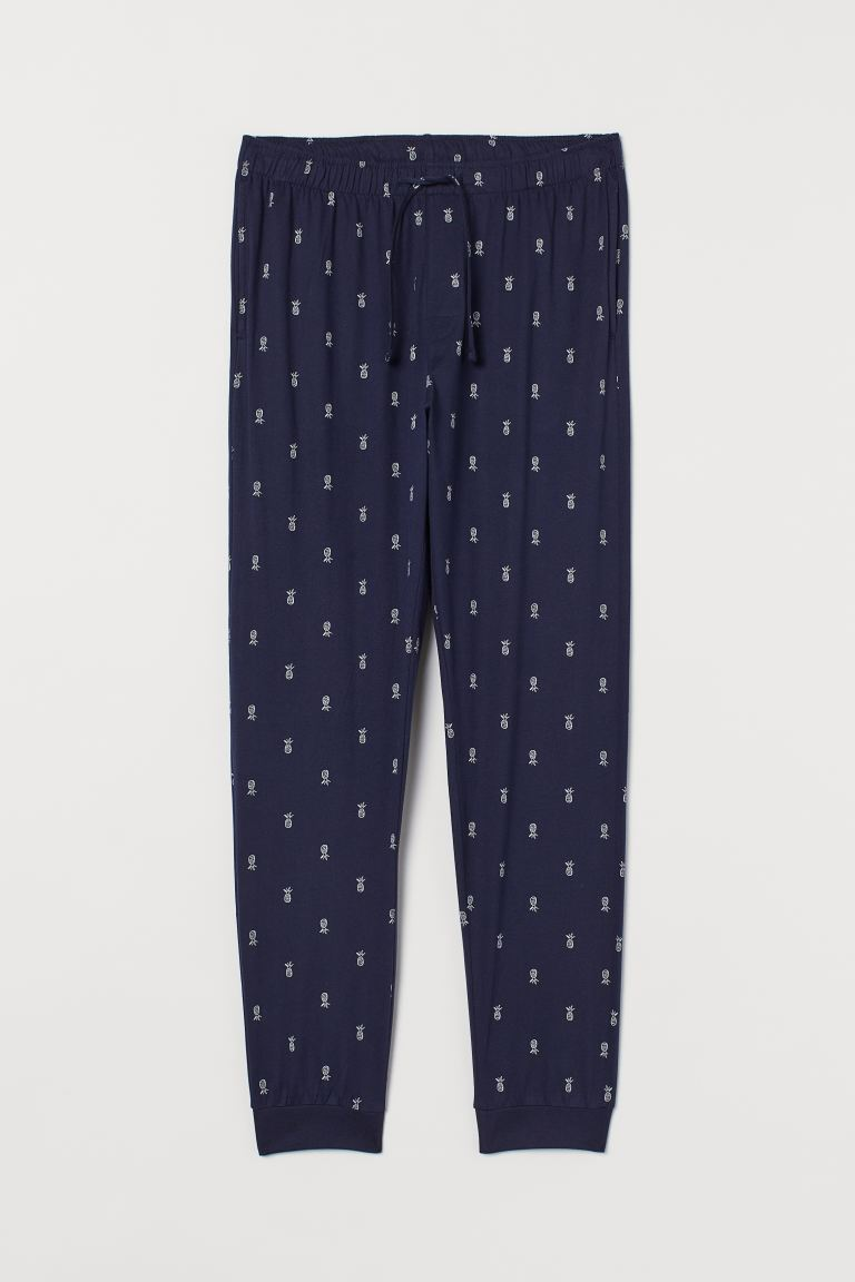 Pyjama bottoms - Dark blue/Pineapples - Men | H&M